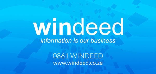 WinDeed provides fast and reliable access to South Africa?s major registration offices including the Deeds Office, Surveyor General Office and various Credit Bureaus, as well as information sourced from the Companies and Intellectual Property Commission. WinDeed also offers benefits to Law Firms, Estate Agencies, Municipalities, Credit Bureaus, Banks, Valuers, Surveyors, Conveyancers, Researchers and other professionals within the property industry.