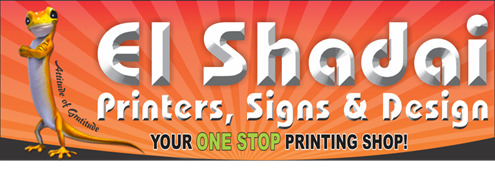 El Shadai Printers has been delivering quality printing since 1983. If you value excellent service, incredibly competitive prices, and stunning results time after time, then we believe that we are the company to meet all your printing needs.